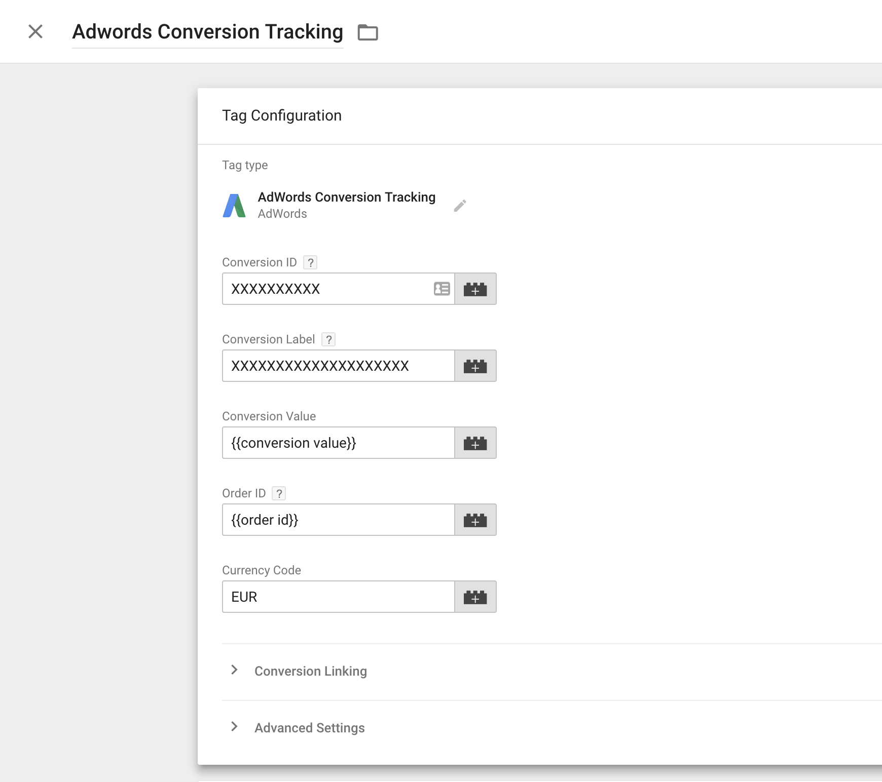 Currency Codes AdWords Conversion Tracking